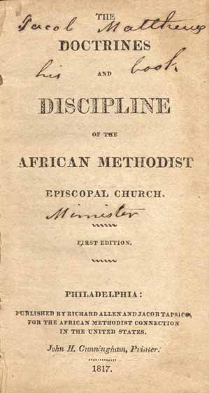 African Methodist Episcopal Church  The Doctrines and