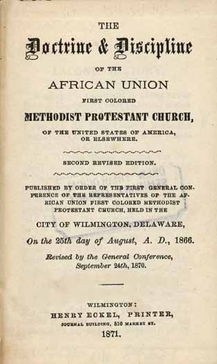 African Union Methodist Protestant Church (U S )  The Doctrine