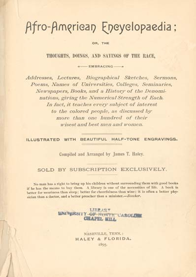 James T  Haley  Afro-American Encyclopaedia