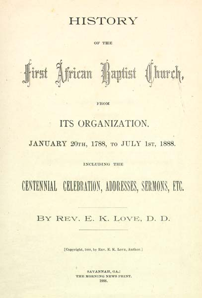 love e k emanuel king 1850 1900 history of the first african baptist church