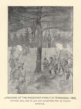 LYNCHING OF THE WAGGONER