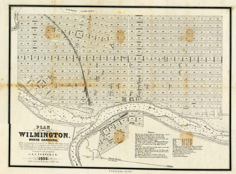 Map Of Wilmington N C From 1856