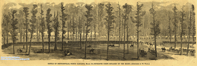 Battle of Bentonsville, North Carolina, March 20--Fifteenth Corp engaged on the right