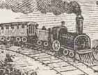 A Civil War era drawing of a train