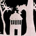 Detail of a silhouette of the early UNC campus