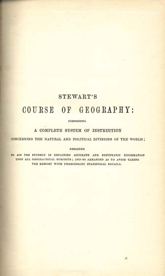 Rev. K. J. Stewart (Kensey Johns). A Geography for Beginners.