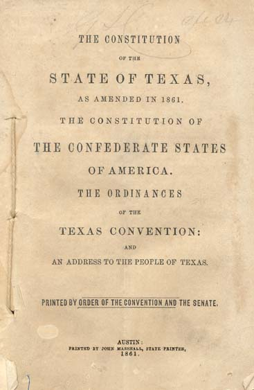an overview of the constitution of the state of texas The constitution of the republic of texas was the supreme law of texas from 1836 to 1845  1845, the united states admitted the state of texas to the union.