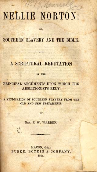 Ebenezer W Warren B 1820 Nellie Norton Or Southern Slavery And