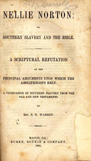 Ebenezer W  Warren, b  1820  Nellie Norton: or, Southern