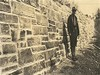 Retaining wall, class B masonry