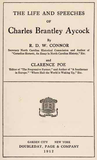 R D W Connor Robert Digges Wimberly 1878 1950 And Clarence