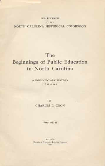 Charles L Coon Charles Lee 1868 1927 The Beginnings Of Public
