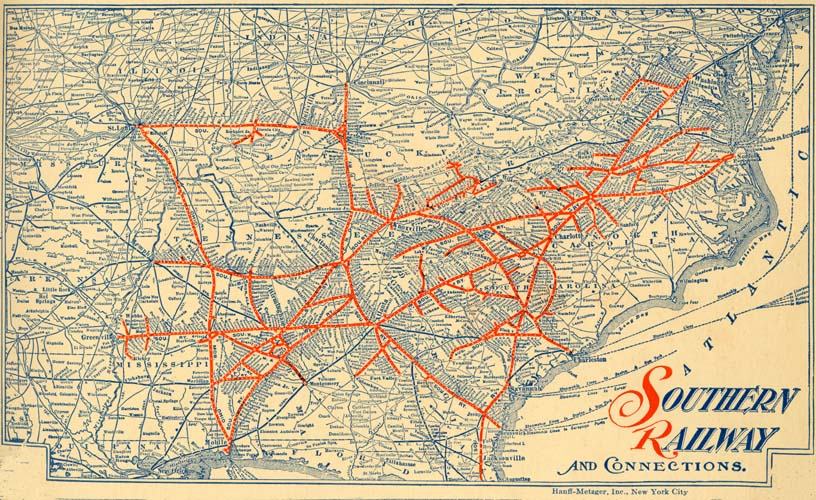 Southern Railway US Passenger Traffic Dept Autumn And - Southern railway us map