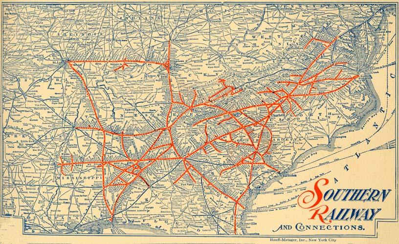 Southern Railway Us Map Southern Railway (U.S.). Passenger Traffic Dept.. Autumn and