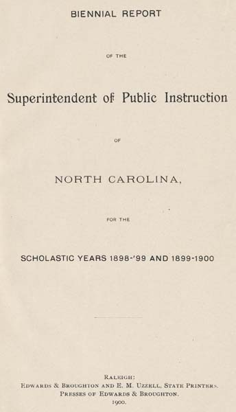 North Carolina Dept Of Public Instruction C H Mebane Charles