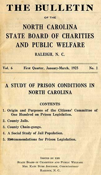 North Carolina State Board of Charities and Public Welfare