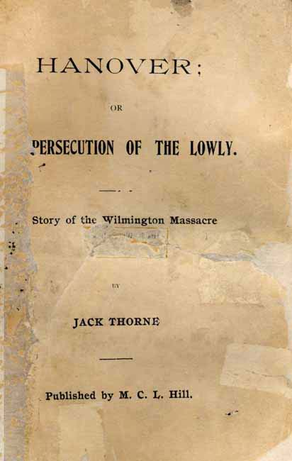 Jack Thorne B 1863 Hanover Or The Persecution Of The Lowly