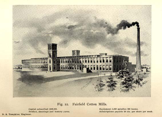 Daniel Augustus Tompkins 1851 1914 Cotton Mill
