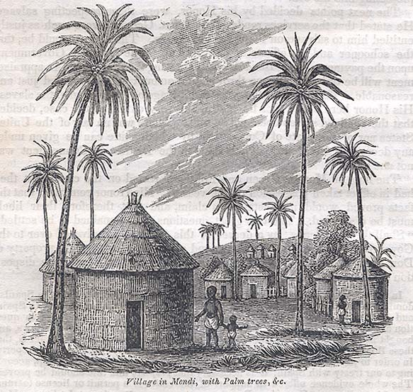African Village Drawing by The Africans on Board