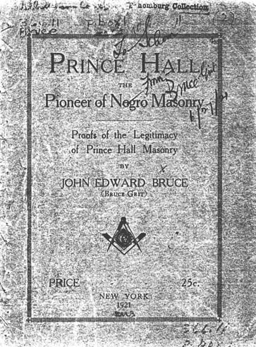 John Edward Bruce 1856 1924 Prince Hall The Pioneer Of