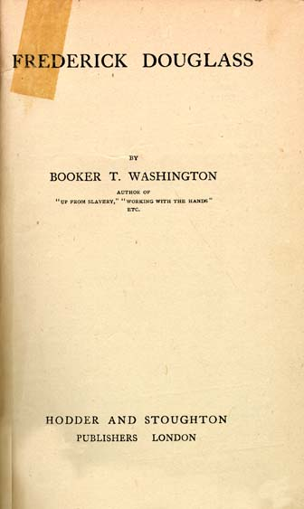 Booker T Washington  Frederick Douglass Illustration