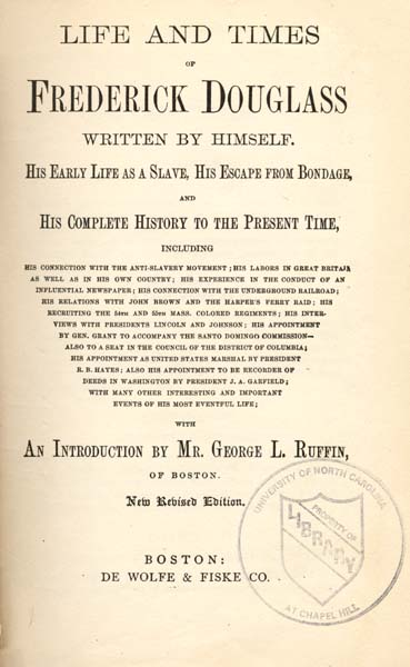 a reading report on the the narrative of the life of frederick douglass Throughout narrative of the life of frederick douglass, the importance of education becomes apparent as frederick douglass' opinion wavers towards the beginning of.