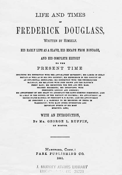 Frederick Douglass, 1818-1895  Life and Times of Frederick