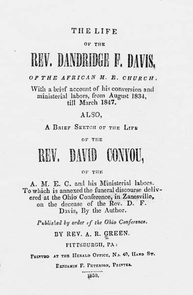 A R Green Augustus R The Life Of The Rev Dandridge F Davis