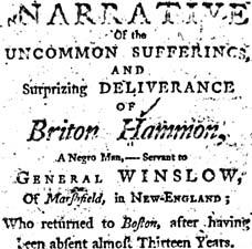 Briton Hammon A Narrative of the Uncommon Sufferings, and