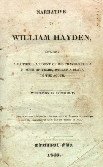William Hayden B 1785 Narrative Of William Hayden Containing A