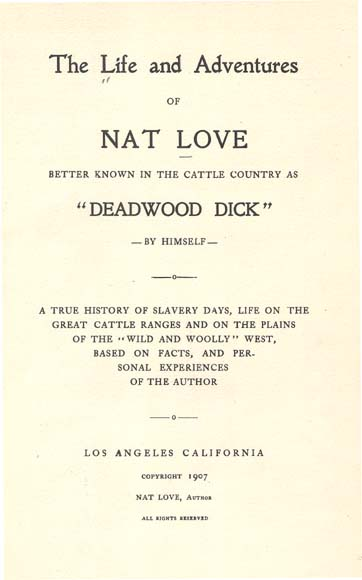 nat love autobiography