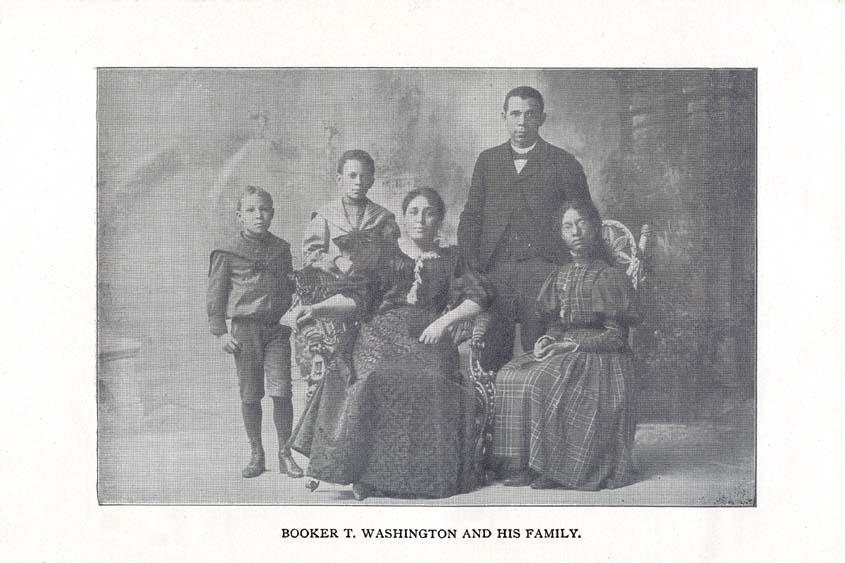 BOOKER T. WASHINGTON AND HIS FAMILY.