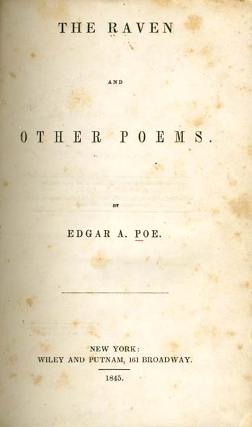 photo relating to The Dash Poem Printable Pdf referred to as Edgar Allan Poe, 1809-1849. The Raven and Other Poems