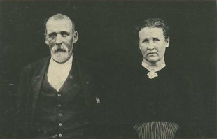 John and Caroline Brinegar, ca. 1910s. They took the 