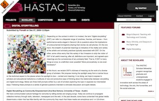 Screenshot of HASTAC.org