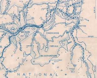 1936 state highway map