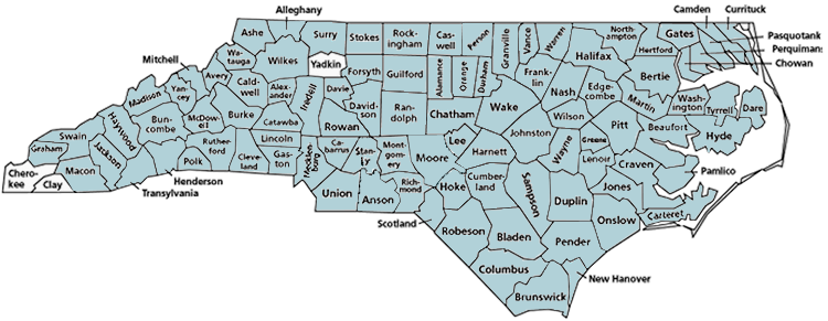 Nc County Map Commemorative Landscapes of North Carolina :: Interactive Wake  Nc County Map