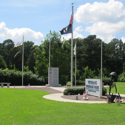 National Veterans Freedom Park, Cary. Photograph courtesy of Natasha Smith.