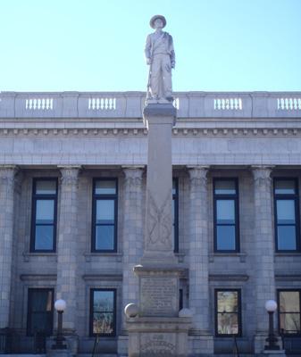 Alamance County Confederate Monument, Graham.  Photo courtesy of Kelly J. Agan.