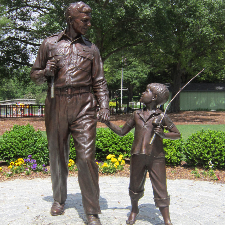 Andy Griffith Monument, Raleigh. Photo courtesy Donald Burgess Tilley Jr.