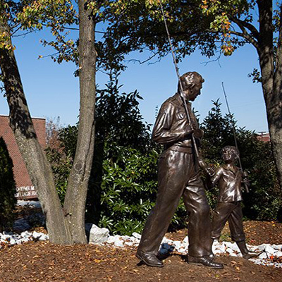 Andy Griffith Monument, Mount Airy. Photo courtesy of Surry Arts Council, The Andy Griffith Museum