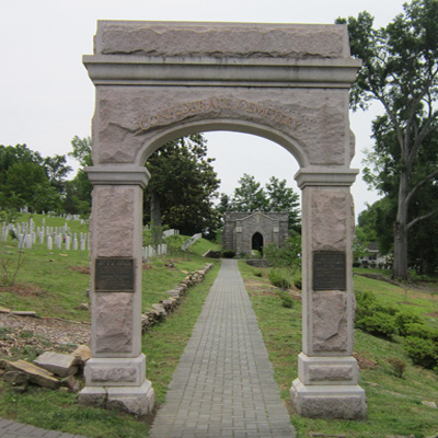 Memorial Arch, Oakwood Cemetery, Raleigh. Photo courtesy Donald Burgess Tilley Jr.
