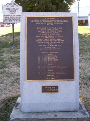 Confederate Monument (1986), Greensboro. Photo courtesy of Rodney P. Williams of North Carolina Civil War Memorials.