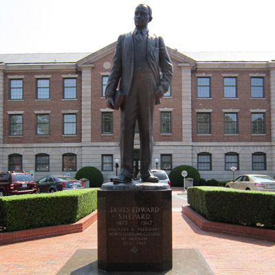 James Shepard Statue, North Carolina Central University, Durham.  Photo courtesy of Donald Burgess Tilley Jr.