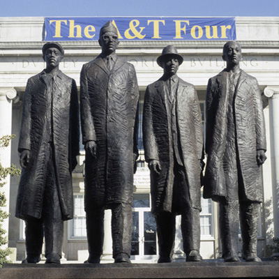 Greensboro Four Monument.  Courtesy of Prof. Upton