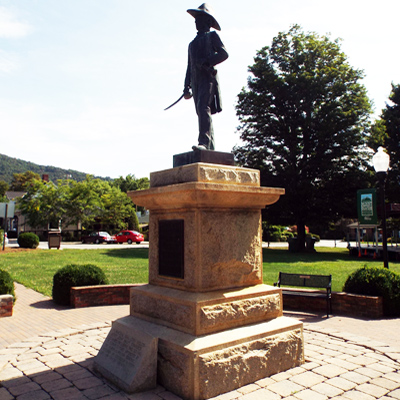 Otway Burns Statue, Burnsville. Courtesy of the North Carolina Museum of History, North Carolina Department of Cultural Resources.