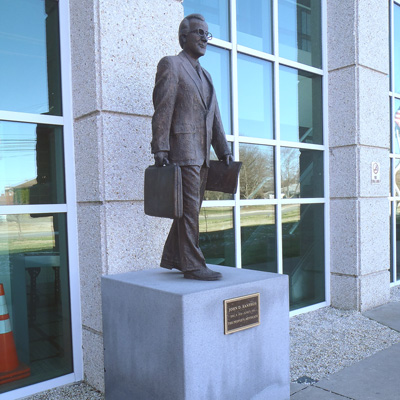 John D. Xanthos Statue, Graham.  Photo courtesy of Kelly J. Agan.