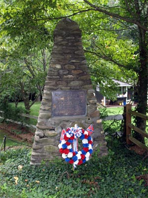 Confederate Memorial, Waynesville. Image courtesy of the North Carolina Department of Cultural Resources. Photograph by Tom Vincent.