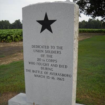 The Battle of Averasboro Union Soldiers Memorial, Averasboro Battlefield, Dunn. Photo by Bill Coughlin, August 3, 2010, courtesy of HMdb.org