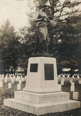 Massachusetts Monument, New Bern National Cemetery